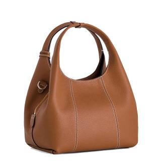 Le Tanneur Juliette Petit Messenger Bag In Tan Leather