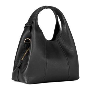 Le Tanneur Juliette Petit Messenger Bag In Black Leather