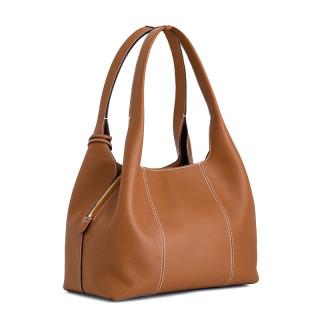 Le Tanneur Juliette Grand Messenger Bag In Tan Leather