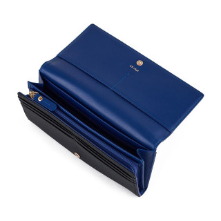 Le Tanneur Lise Wallet All-in-One Black & Blue