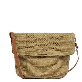 L'atelier Du Crochet Crossbody Bag Raphia Alveola Tea