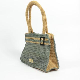 L'Atelier du Crochet Sac A Main Raphia Keloa Gris