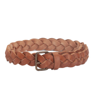 Biba Hudson Braided Belt 85 CM Natural Leather