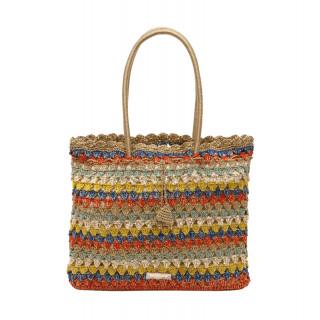 Lollipops Halize Multicolored-Golden Crochet Bag