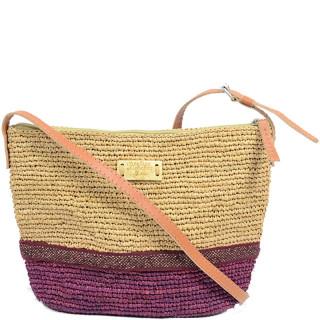 l'atelier du crochet Bandolino Crossbody Bag Raphia Thé Bordeaux