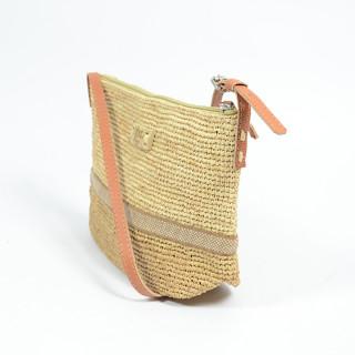 l'atelier du crochet Bandolino Crossbody Bag Raphia Tea