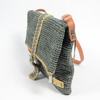 L'atelier Du Crochet Messenger Bag Grey Samoa