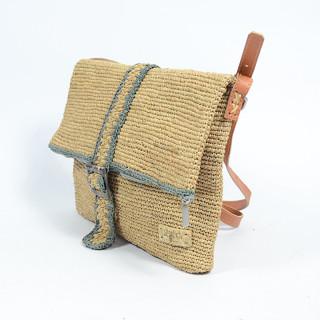 L'atelier Du Crochet Messenger Bag Samoa Grey Tea