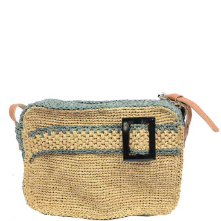 L'atelier Du Crochet Crossbody Bag Cube Radoa Grey Tea