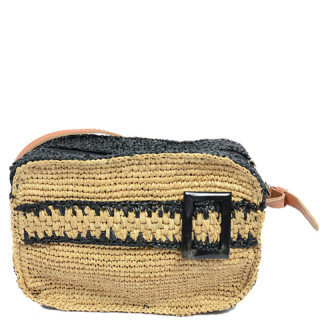 L'atelier Du Crochet Crossbody Bag Cube Radoa Black Tea