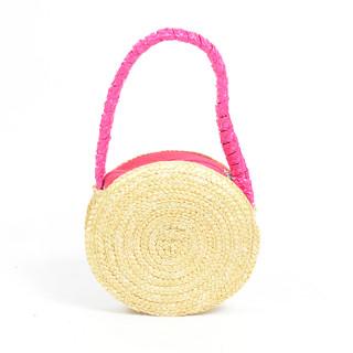 Le Voyage En Panier Marquerite Basket Child Round Fushia
