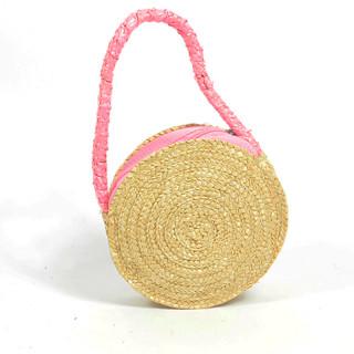 Le Voyage En Panier Marquerite Basket Child Round Pink
