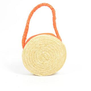 Le Voyage En Panier Marquerite Basket Child Round Orange