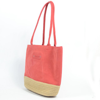 Le Voyage En Panier Red Dolce Cabas Bag