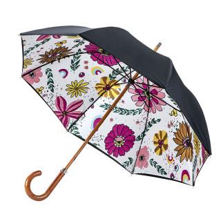 Piganiol Nouvel Eden Parapluie Long Femme Canne Manuel Doublé Hippie