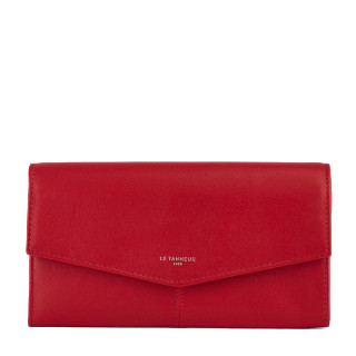 Le Tanneur Charlotte All-in-One Companion In Garnet Leather