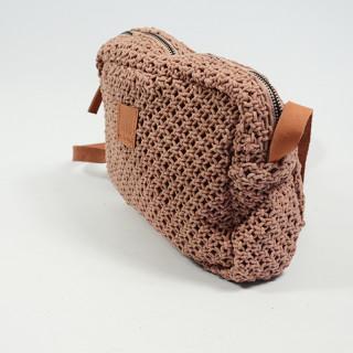 Biba Dominica Crossbody Bag Braid Rosa