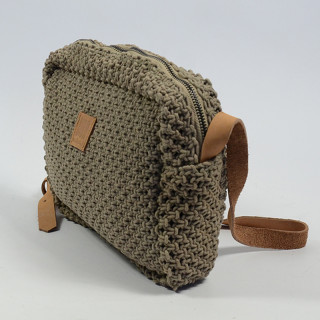 Biba Dominica Crossbody Bag Braid Taupe