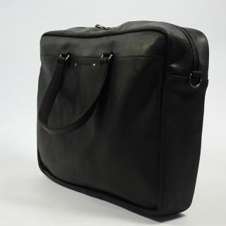 Les Ateliers Fourès Baroudeur Satchel Leather 39cm F9519 Black
