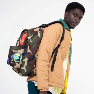 """Eastpak Out Of Office Backpack 13"""" Laptop k52 Patched Camo"""