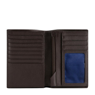 Le Tanner Charles Medium Wallet 2 Shutters Leather Grained Coffee-Garnet