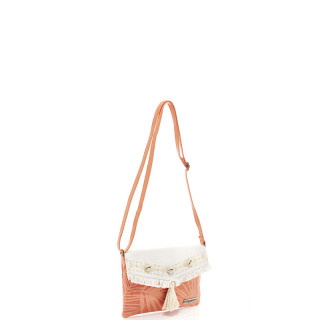 The Tropéziennes Manzanillo Bag Trotter Fringes and Shells Coral