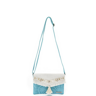 Les Tropéziennes Manzanillo Bag Trotter Fringes and Shells Turquoise