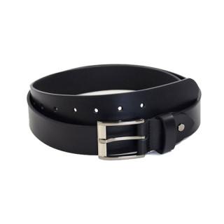 JL FOURES Men's Leather Belt F50561 Black