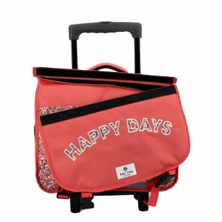 Pol Fox Cartable Trolley Reversible 38cm Happy Days
