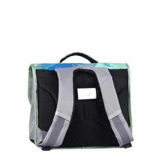 Caméléon Actual Schoolbag 38cm 2 Compartments Gray Tropical Leaf