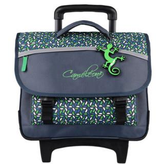 Caméléon Actual Cartable A Roulettes 38cm Green Geo