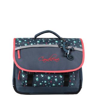 Caméléon Actual Schoolbag 38cm 2 Compartments Blue Small Flowers