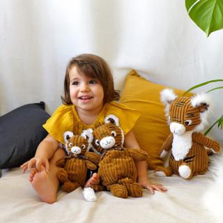 Les Deglingos Grande Peluche Doudou Speculos Le Tigre plusieurs doudou