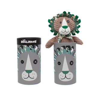Les Deglingos Grande Peluche Doudou Jelekros Le Lion dans la boîte