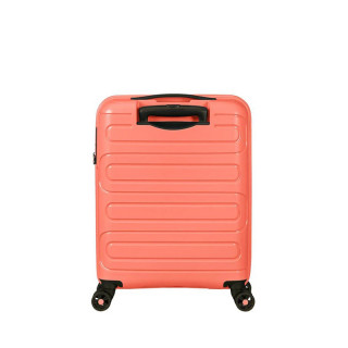American Tourister Sunside Spinner 55 cm Valise Cabine Trolley 4 Roues Living Coral de biais