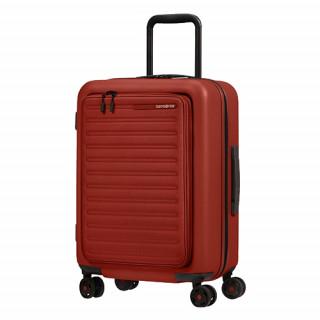 Samsonite Magnum Eco Valise Trolley 55 cm 4 Roues Red de biais