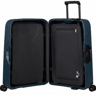 Samsonite Magnum Eco Valise Cabine 4 Roues 55cm Midnight Blue de biais