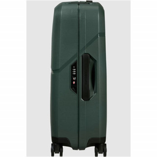 Samsonite Magnum Eco Valise Cabine 4 Roues 55cm Forest Green de biais