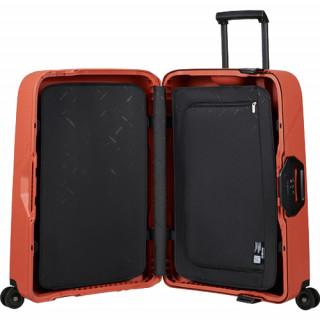 Samsonite Magnum Eco Valise Cabine 4 Roues 75cm Maple Orange de biais