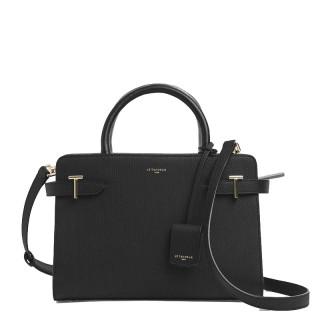 Le Tanneur Emilie Medium Handbag In Black Leather