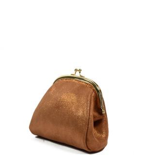 Farfouillette Iridescent Wallet 6784 Camel