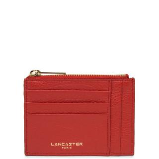 Lancaster Dune Porte Cartes 129-22 Rouge de face