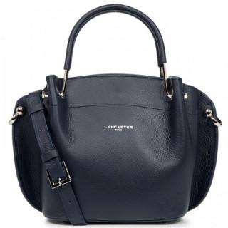 Lancaster Foulonne Double Bag A Main Louisa 470-18 Dark Blue Silver