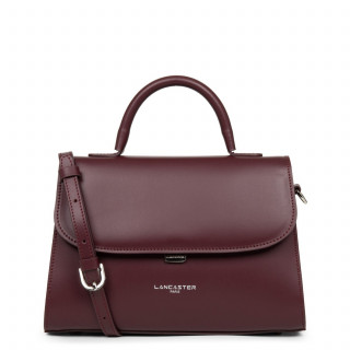Lancaster Smooth Even Mini Leather Handbag 437-17 Pourpre