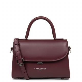 Lancaster Smooth Even Mini Leather Handbag 437-16 Pourpre