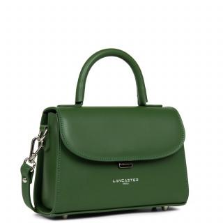 Lancaster Smooth Even Mini Leather Handbag 437-16 Vert Pin
