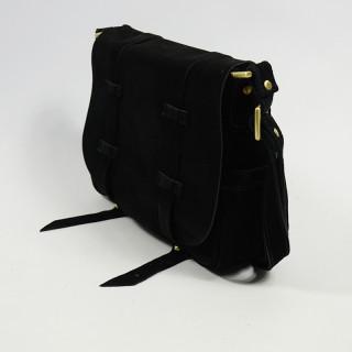 Mila Louise Bess Croute Crossbody Bag Black