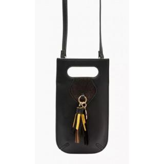 Lollipops Isis Pochette Portable Pompon Noir