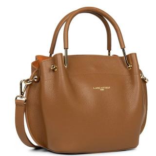 Lancaster Foulonne Double Bag A Main Louisa 470-18 Camel In Orange