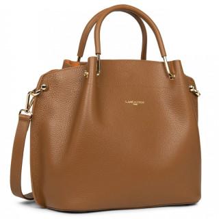 Lancaster Foulonne Double Grand Bag A Main Louisa 470-19 Camel In Orange